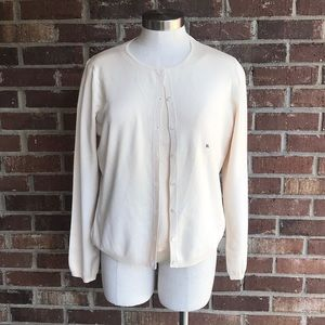 ⭐️Casual Corner Cream Cardigan Set XLarge